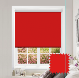 Red Roller Blind - Bahamas Vivid Red